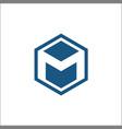 m hexagon logo abstract template vector image vector image