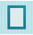 Modern blue photo frame vector image vector image