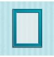 Modern blue photo frame vector image