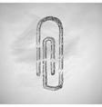 paper clip icon vector image vector image