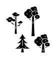 park trees black icon concept park trees vector image