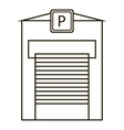 Parking garage icon outline style vector image vector image
