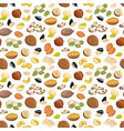 pattern with nuts vector image vector image