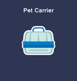 pet carrier line icon sticker vector image vector image