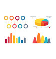 pie chart and bar graphs vector image vector image