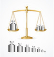 realistic detailed 3d calibration weight vector image vector image