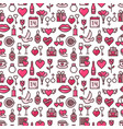 romantic background and seamless pattern with vector image