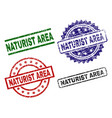 scratched textured naturist area stamp seals vector image vector image