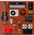 Set of music and sound objects vector image vector image