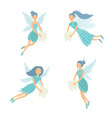 set tooth fairy isolated vector image vector image