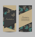 set vertical banners with butterflies vector image