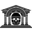 skull of roman centurion vector image vector image