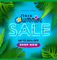 summer sale design with bright neon text and vector image vector image