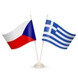 Table stand with flags of Greece and Czech vector image vector image