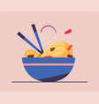 tasty wok chinese cuisine flat vector image