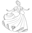 The Ball Dance of Cinderella Coloring Page vector image