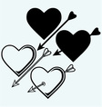 The symbol of the heart with an arrow vector image vector image