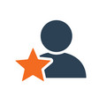 user profile with star line icon star rating vector image vector image