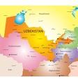 Uzbekistan vector image vector image