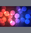 vibrant bokeh shiny background with big circles vector image