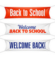 welcome back to school banners vector image vector image
