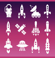 white shuttle rockets and space vector image vector image