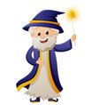 wizard in blue robe vector image