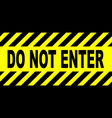 yellow and black do not enter sign vector image
