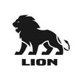 angry lion monochrome logo vector image