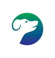 dog pet shop logo vector image