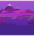 cartoon desert evening landscape vector image