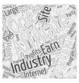 Affiliate Marketing Internet Industry Word Cloud vector image vector image