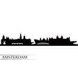 Amsterdam city skyline silhouette background vector image vector image