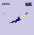 anguillla map border with flag eps10 vector image vector image