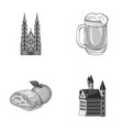 architecture building cathedral and other web vector image vector image