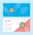atoms abstract corporate business banner template vector image