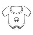 baby cute clothing vector image