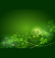 background from the leaves of the clover to st vector image vector image