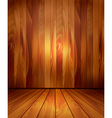 Background with wooden wall and a wooden floor vector image