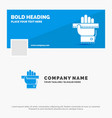 blue business logo template for education hand vector image vector image