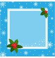blue christmas decorative frame card template vector image vector image