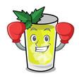 boxing mint julep character cartoon vector image
