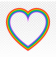bright rainbow in heart shape vector image