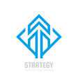 business strategy - logo template concept vector image vector image