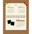 calendar2012 october vector image vector image