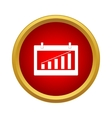Chart icon simple style vector image vector image