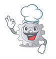 chef gear on style character shape funny vector image vector image