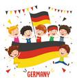 children holding germany flag vector image vector image