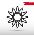 Circular decorative black icon and jpg vector image vector image