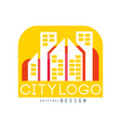 city logo original design modern real estate and vector image vector image